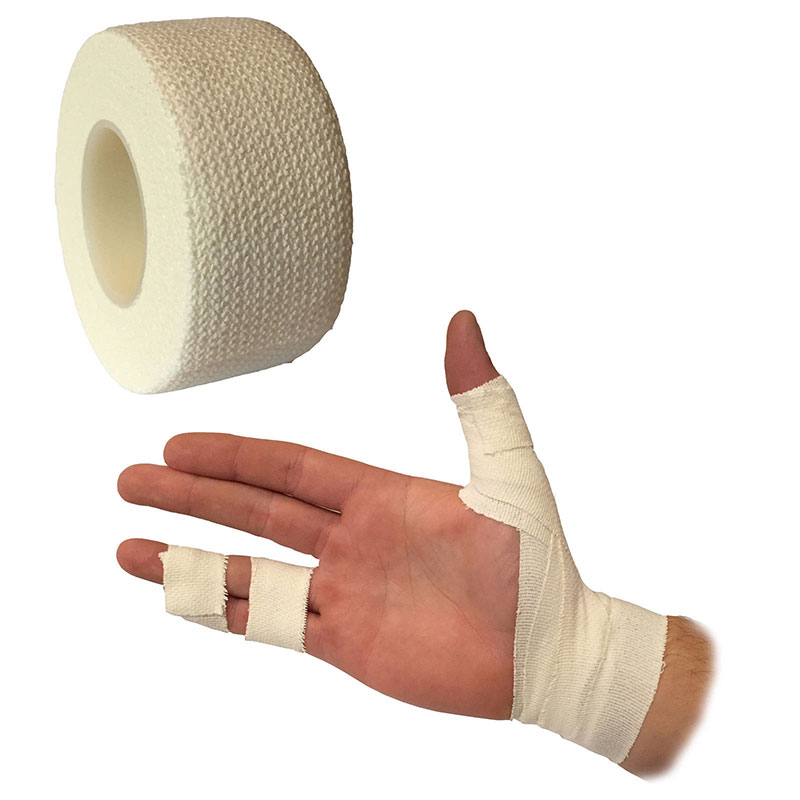 2PCS Self Adhesive White Bandage Elastic Stretch Wrap Tape Hand Wrist Finger Thumb First Aid Kit Sports Emergency Kits