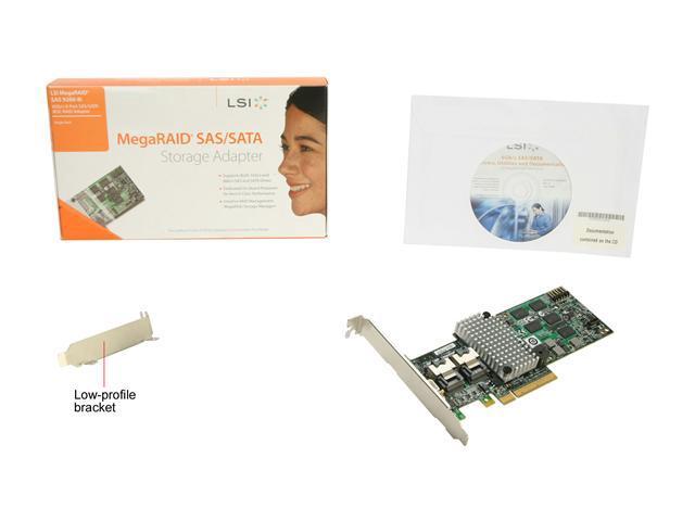NEW Avago LSI 6GB RAID SAS Computer Controller Card Back PCI Panel Bracket