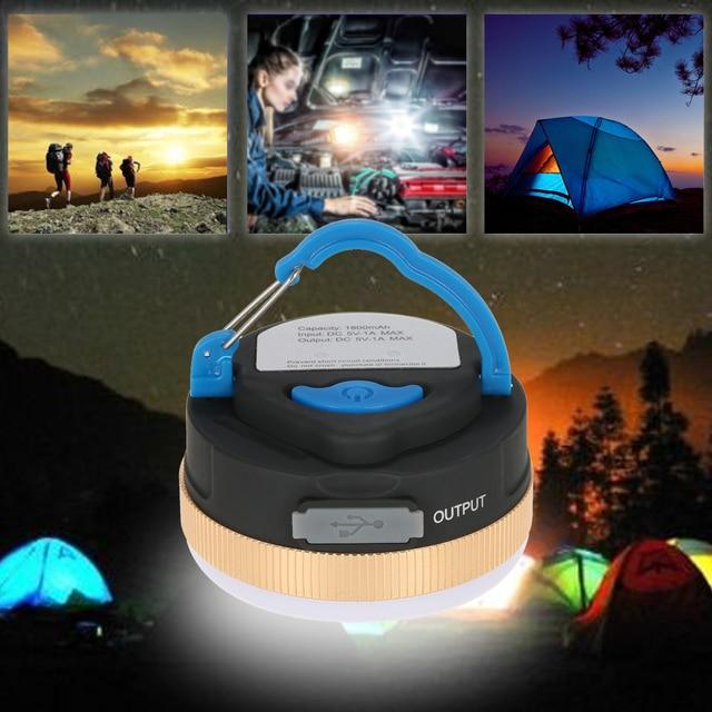 3w Super Bright Magnetic Led Camping Tent Lamp Travel Hiking Lantern Light Fishing