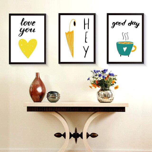 Moderne Wort Stil Rahmen Home Dekoration Holz Bilderrahmen Wandmalereien Wohnzimmer Cafe Bar Wand Fr