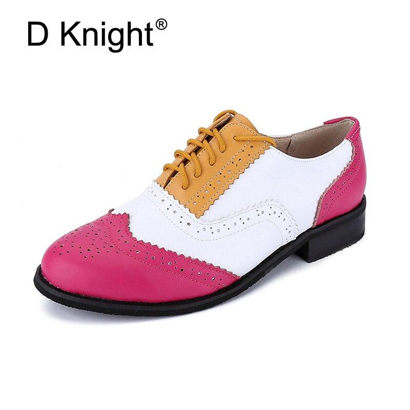 جديد المرأة ناتروال جلد شقة أكسفورد أحذية حذاء امرأة خمر جولة تو اليدوية مختلط الألوان أكسفورد أحذية للنساء 2018-في أحذية نسائية مسطحة من أحذية على  مجموعة 1