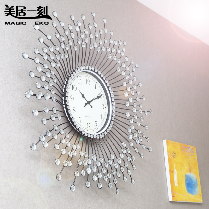 Mercure Moment Oversized Diamond Wall Clock Creative Living Room Bedroom  Clock Creative Fashion Watches Continental In Wall Clocks From Home U0026  Garden On ...