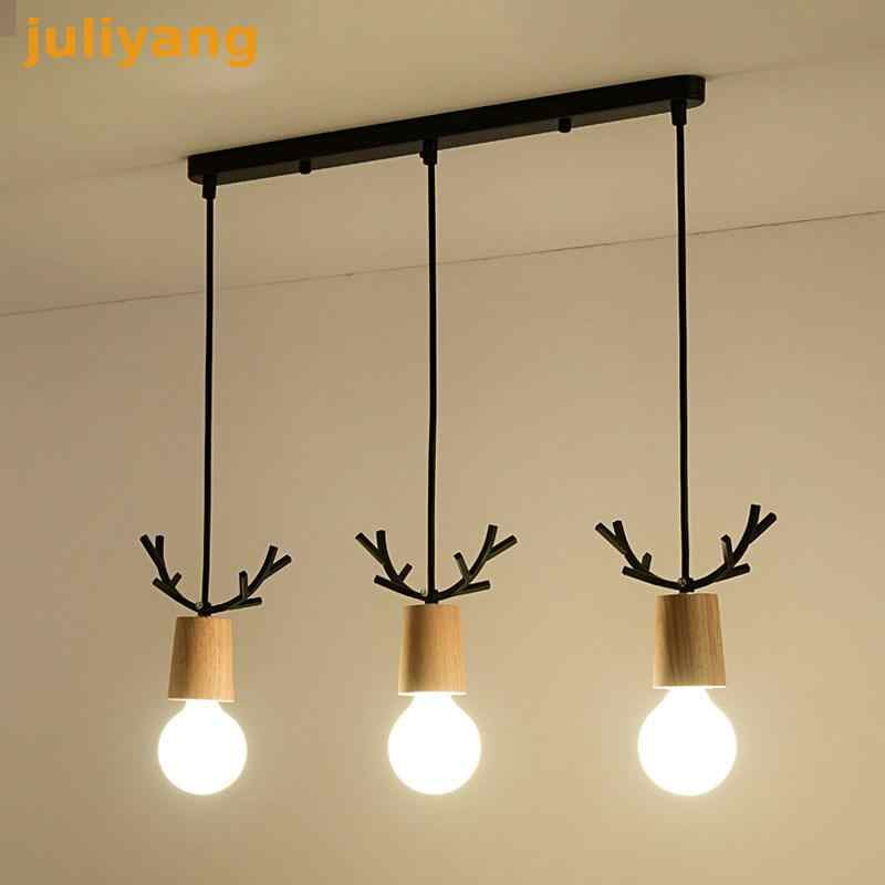 juliyang Solid wood pendant lamp holder fix with G80 G95 G125 led bulb for shop indoor room restaurant hunging light