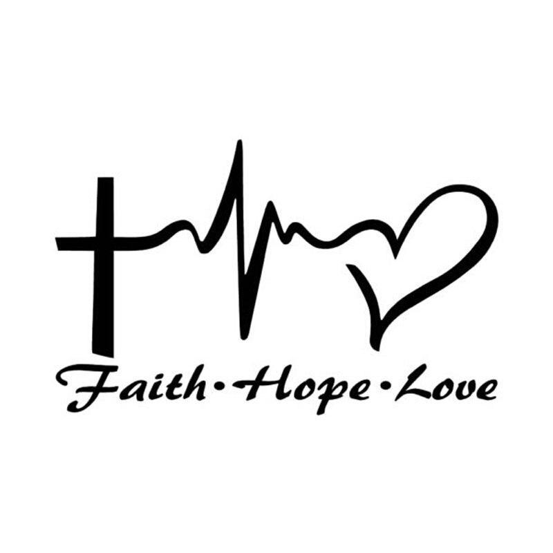 14.6CM*9CM Personality Jesus HOPE LOVE FAITH Prayer Creative Vinyl Car stickers C5-0320 car