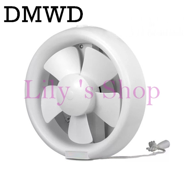6 Inch Mini Wall Window Exhaust Fan Kitchen Toilets Ventilation Fans Round  Windows Exhaust Fan Installation