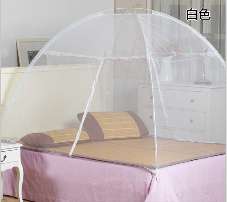 Mongolie yourte moustiquaire Bi - parting moustiquaire Anti le paludisme moustiquaires haute densité moustiques coussin 6.6 pieds roi reine bleu