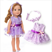 Doll Clothes Fit 18 inch 40cm-43cm Born New Baby 2 pieces American Purple, pink, blue Hairbands accessories For Gift