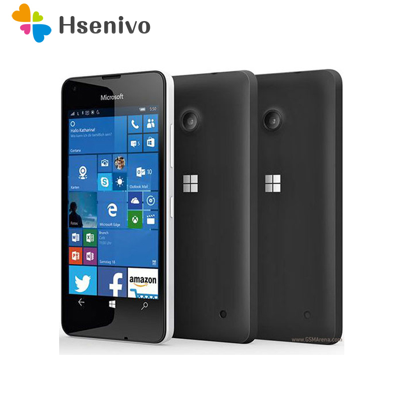 100% Original Microsoft Lumia 550 8MP Camera Quad-core 8GB ROM 1GB RAM mobile phone LTE FDD 4G 4.7 1280x720 pixel Free ship image