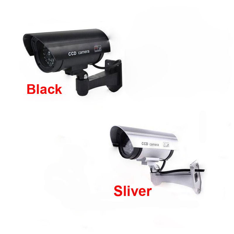 Fake Security Camera Fake Camera Dummy Emulational Bullet cctv Camera Waterproof For Home Security With LED Flash bullet camera tube camera headset holder with varied size in diameter