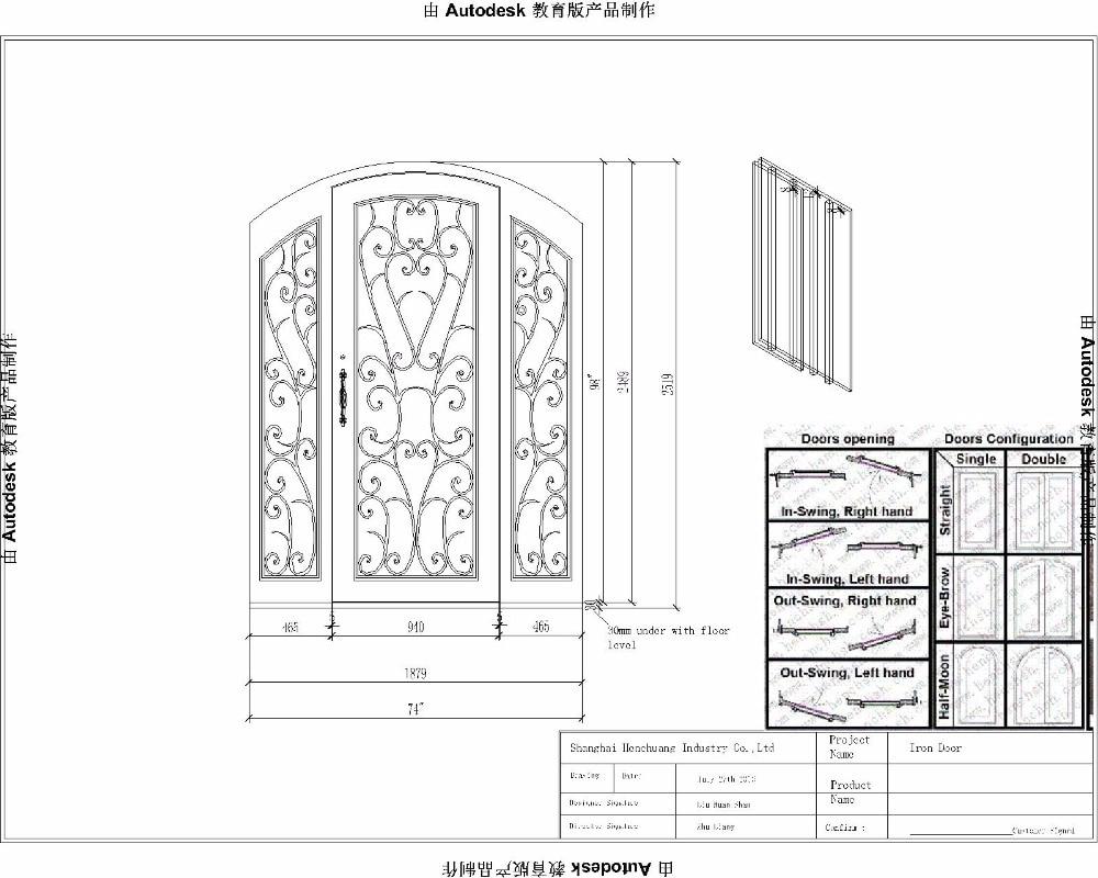 Wrought Iron Security Patio Doors Tuscan Style Front Doors
