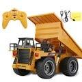 6CH Caminhão Grande 43 CM Caminhões da Construção de Controle Remoto Escala 1:8 RC Elétrico Dumper Escavadeira Bulldozer Plástico ABS