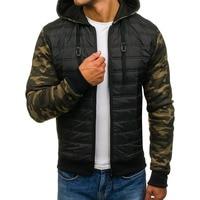 ZOGAA Men Winter Jackets Parka Plus Size Camouflage Full Sleeve Patchwork Zipper Hoody Jacket Coat Quality Casual Parka Men 2019