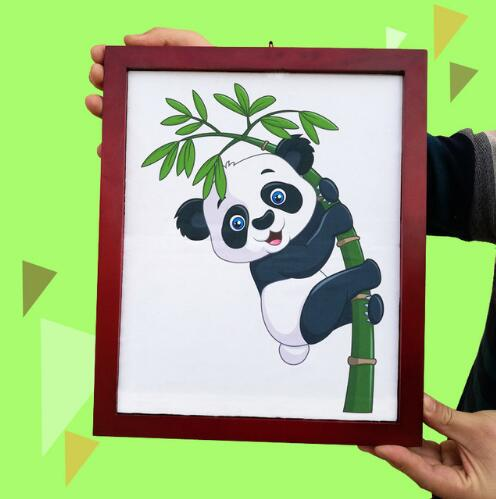цена на Panda Frame Magic Tricks Plush Panda Toy Appearing From Board Magia Magician Stage Party Gimmick Props Illusion Mentalism Funny