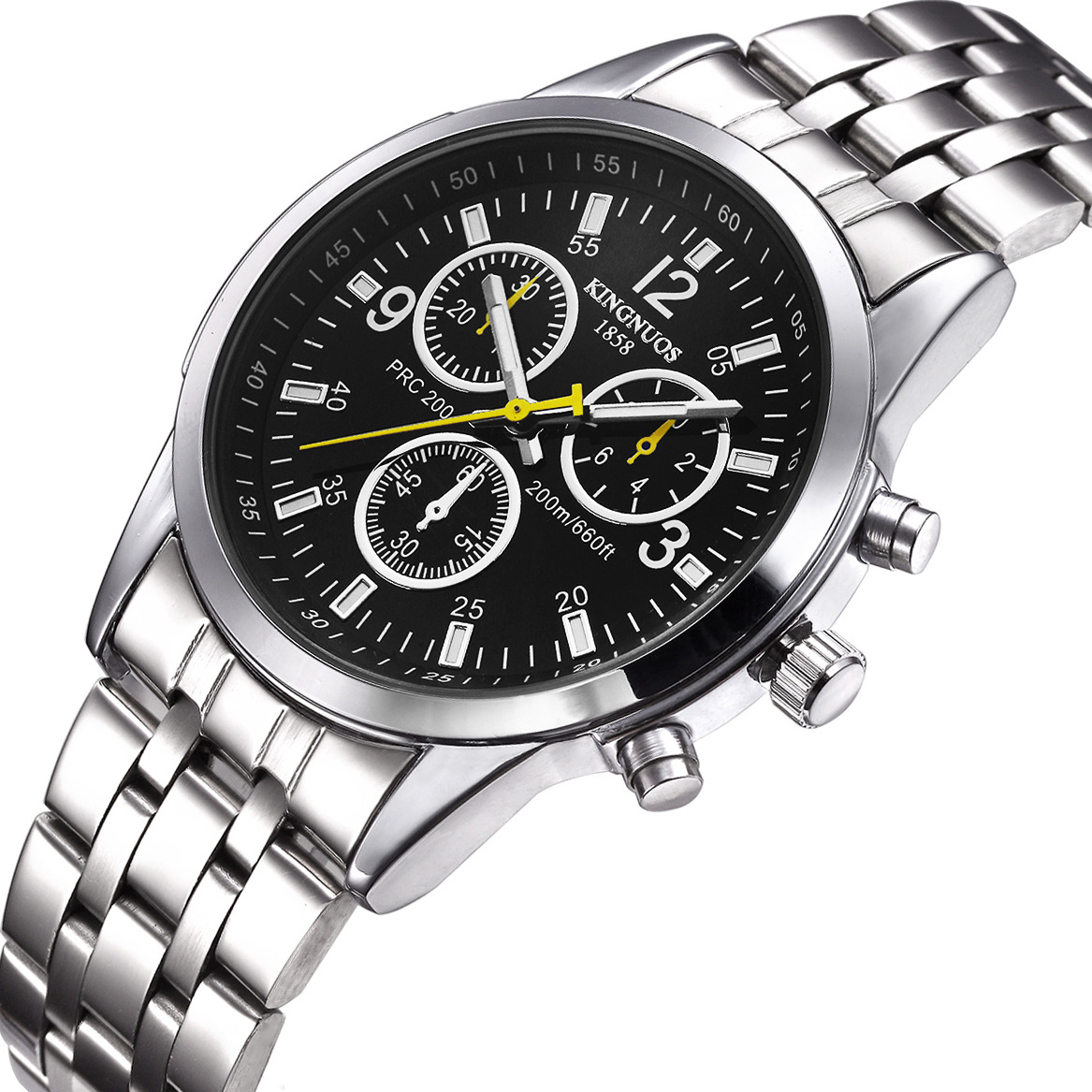 Kingnuos fashion casual mens watch military male wristwatch waterproof quartz business stainless for Kingnuos watch