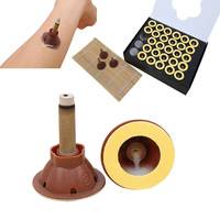 New 60x wormwood moxibustion with 30x cupping healthy care set massager