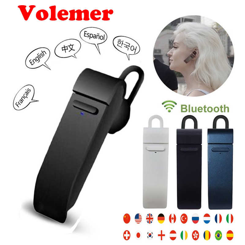 ba66ca2a355 Volemer Peiko Translate Earphone Wireless Business Bluetooth Earbuds 23  Languages Smart Dual Mode with Mic Mobile