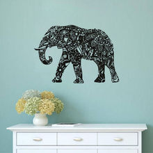 Free Shipping Home Decor Wall Sticker Tribal Elephant Indian Pattern Mural Removable Vinyl Ganesha Art Y-524