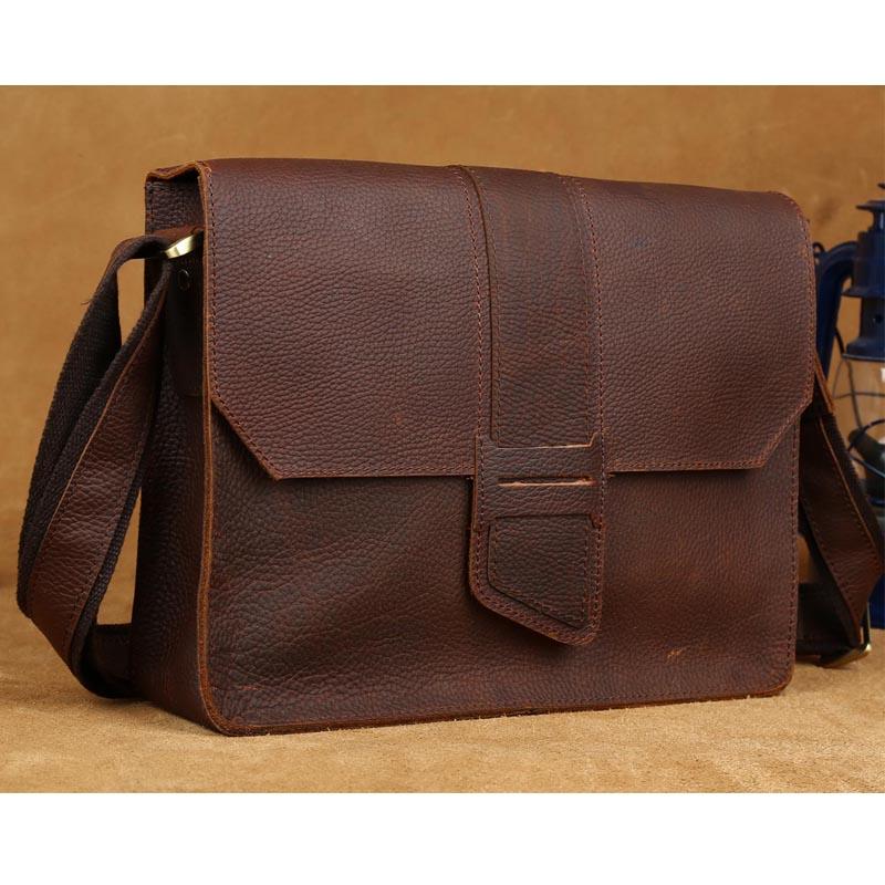 Online Tiding Men S Messenger Bags Leather Satchel A4 Doent Book Bag Brown Designers Brand Shoulder For Boy 1083 Aliexpress Mobile