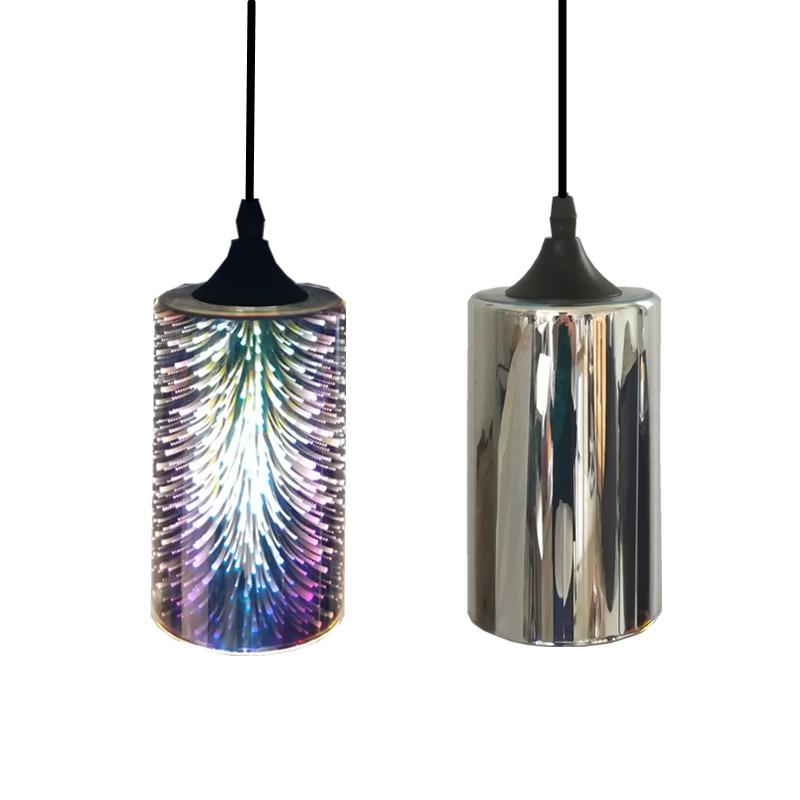 Simple glass lamp fireworks LED pendant light 3D glass colorful Plated modern vintage shop indoor lighting hanging light fixture