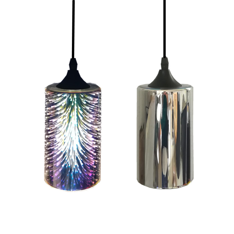 Simple glass lamp fireworks LED pendant light 3D glass colorful Plated modern vintage shop indoor lighting hanging light fixture modern colorful color stone glass pendant lights retro hanging restaurant lustres g4 led bulbs fixture indoor lighting