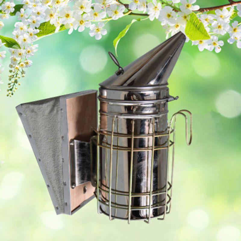High Quality Beekeeping Smoker Stainless Steel Manual Bee Smoke Transmitter Kit Tool Apiculture Sprayer