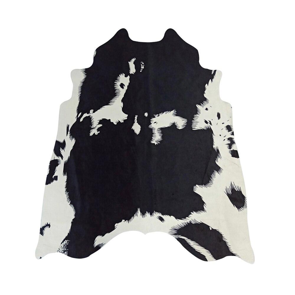 Tapis MustHome pour salon Western Decor Faux peau de vache tapis noir et blanc imprimé Animal tapis en fausse fourrure tapis pour la maison