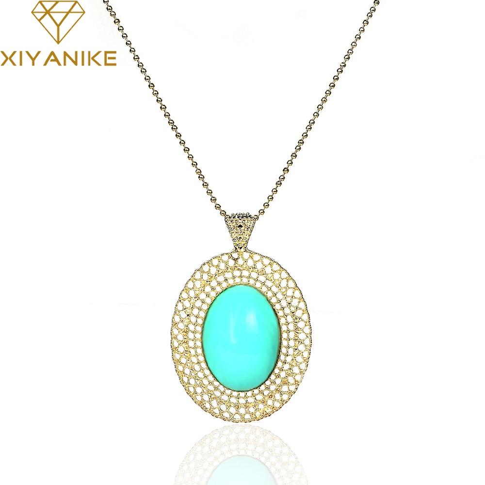 ec8ec9e2a جديد الأزياء الكورية مجوهرات مثقوب البيضاوي قلادة فقرة طويلة سترة سلسلة  بيان قلادة XY-N281-N284