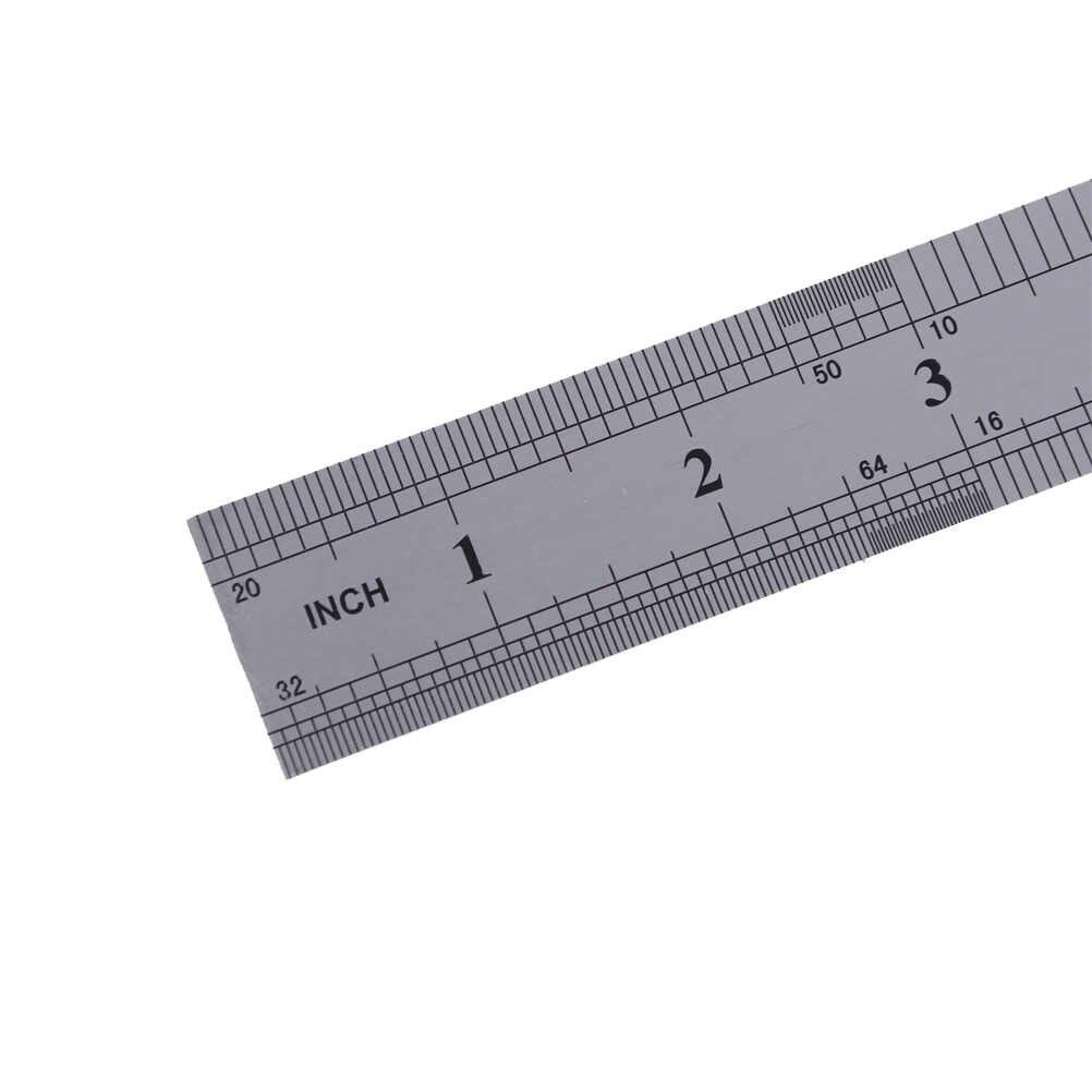 50 ซม. 20 นิ้วคู่สแตนเลสโลหะตรงไม้บรรทัดความแม่นยำ