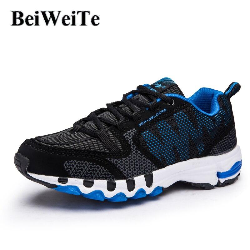 Ανδρικά τρέχοντα παπούτσια Αθλητικά πάνινα παπούτσια Αναπνεύσιμα υποδήματα κατάρτισης φωτός για άνδρες Μεγάλο μέγεθος Non-skid Walking υπαίθρια παπούτσια τουρισμού Νέο