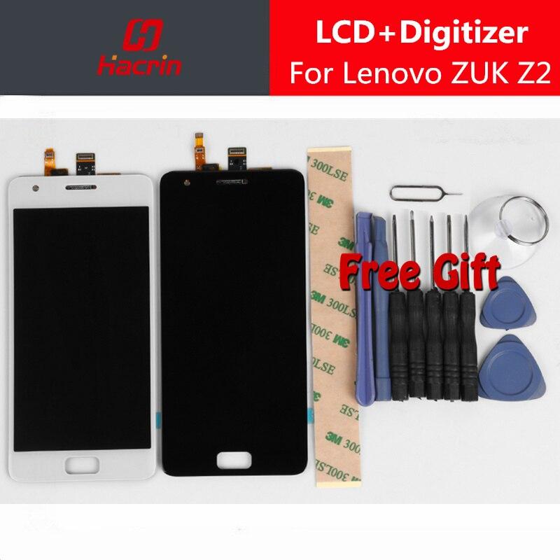 Lenovo ZUK Z2 LCD Display Touch Screen 100% Novo FHD 5.0 Acessório de Substituição Digitador Assembléia Para Lenovo ZUK Z2