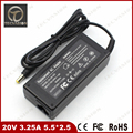 Welcome Bulk Order Top Quality Laptop AC Adapter For LS 20V 3.25A 5.5*2.5mm For FUJITSU 1115C For Siemens Notebook Power Charger