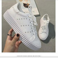 tenis feminino  Spring new Korean heavy-bottomed fashionable casual white shoes student influx