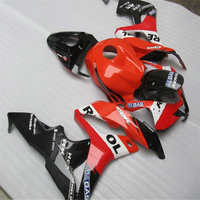 Motorcycle Fairings Kits For CBR600RR CBR600 CBR 600 2007 2008 07 08 F5 ABS Injection Fairing Kit Bodywork red black motorcycle