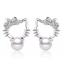 NEHZY – boucles d'oreilles en argent sterling 925 pour femme, bijoux en pierre de cristal Super Flash, perles, chaton, à la mode, 8MM, nouvelle collection