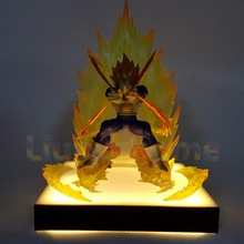 Dragon Ball Z Vegeta Power Up DIY Led Light Lamp Base Dragon Ball Super Son Goku Led Light Lamp Luces Navidad Lampara Led dragon ball z majin buu diy led night light bulb table lamp anime dragon ball z buu figure led light luces navidad