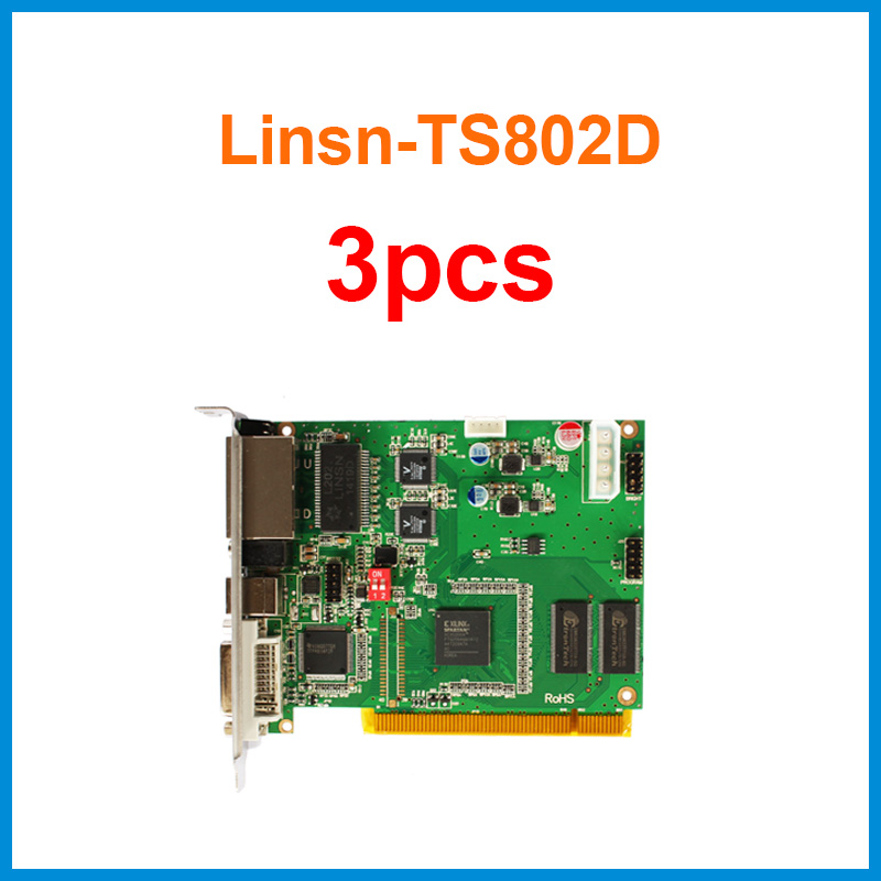 LINSN TS802D Sending Card , Full Color LED Video Display LINSN TS802 Sending Card Synchronous LED Video Card TS802 3 Pieces