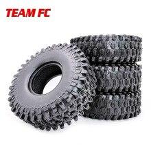 """4 pces 120mm 1.9 """"borracha rochas pneus/pneus de roda para 1:10 rc rock crawler axial scx10 90047 rc4wd d90 d110 tf2 TRX 4 trx4 s251"""
