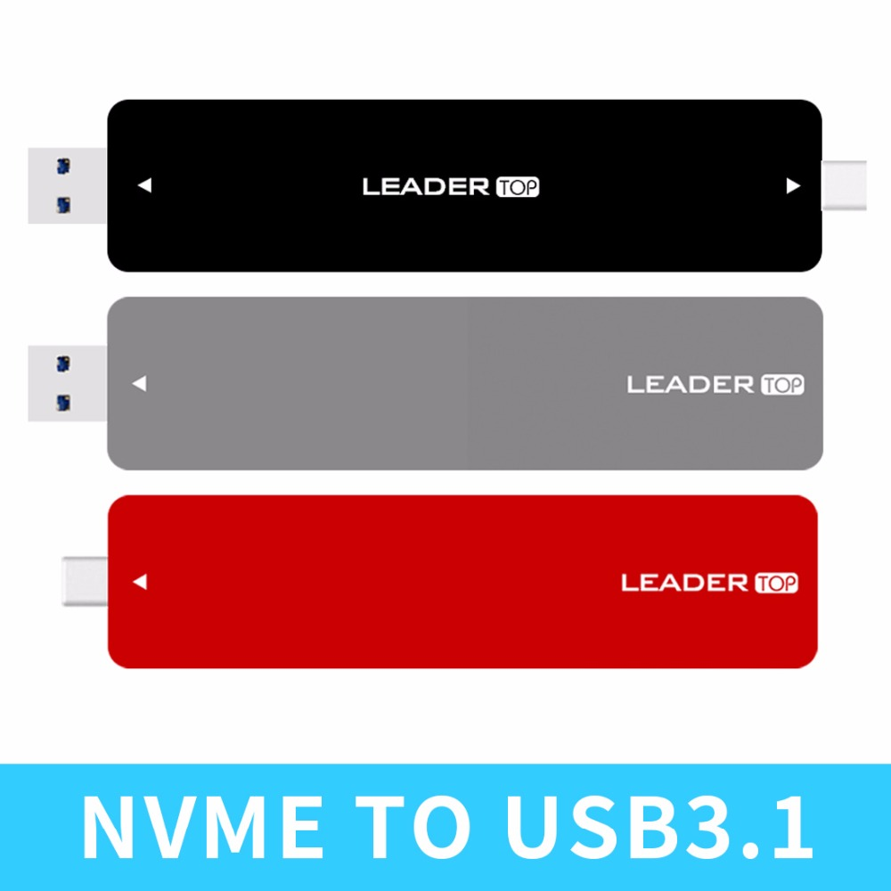 JEYI LEADER m.2 NVME Aluminium TYPEC3.1 Mobile SSD Box SSD Case TYPE C3.1 JMS583 m.2 USB3.1 M.2 PCIE SSD U.2 PCI E TYPEC-in Add On Cards from Computer & Office    1