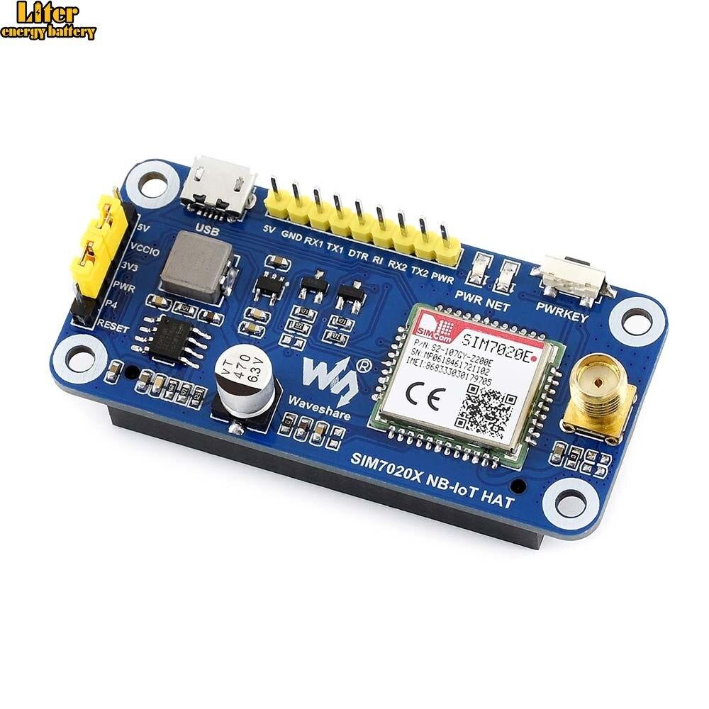 NB-IoT HAT For Raspberry Pi, Based On SIM7020E, B1/B3/B5/B8/B20/B28 Bands,for Europe, Asia, Africa, Australia