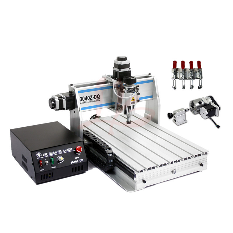 4 axis cnc milling machine 3040ZQ-USB with mach3 remote control mini cnc 3040zq usb 3axis cnc router machine with mach3 remote control engraving drilling and milling machine free tax to russia