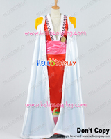 One Piece Cosplay Pirate Empress Boa Hancock White Cloak Red Dress Costume H008