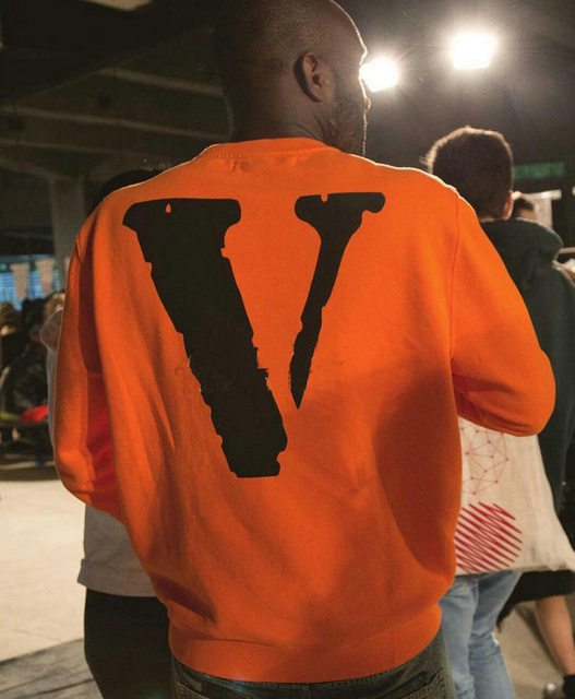 Vlone x off White Long Sleeve Men Hip Hop Off White Hoodie Kanye West Unisex High Quality Cotton Vlone hoodie