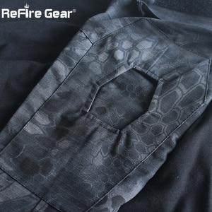 Image 5 - ReFire Gear Camouflage Armyเสื้อยืดผู้ชายUS RUทหารCombatยุทธวิธีTเสื้อทหารForce Multicam Camoเสื้อTเสื้อ
