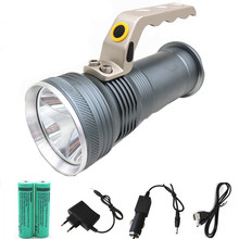 Rechargeable led flashlight 4800LM XM-Q5 torch lighting Lantern Fishing Hunting lamp light +2*18650 Battery +car/AC charger +usb