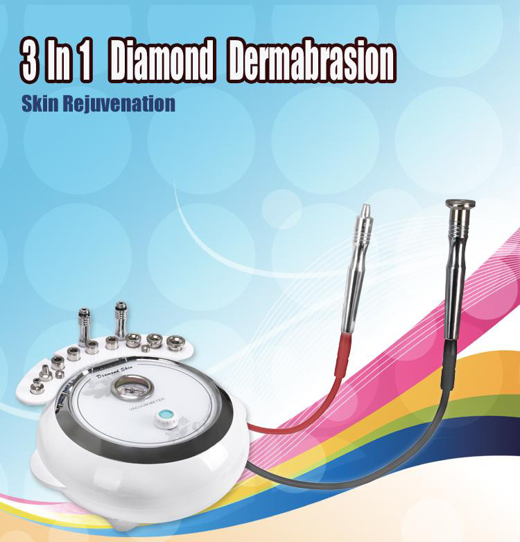 Diamond Dermabrasion Face Skin Care Machine 3 In 1 Microdermabrasion Machine Skin Cleansing Rejuvenation Facial Machine