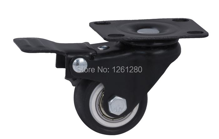 free shpping furniture caster Universal Flat Top wheel with brake furniture hardware caster PU mute caster double bal bearing tnt express furniture caster 4 inch swivel wheel steering table sofa wheel universal mute authentic nylon wheels house hardware