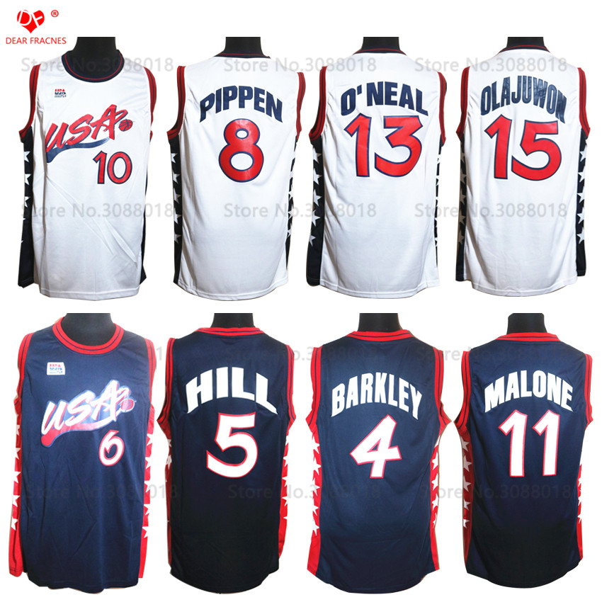 1996 Atalanta Usa Dream Team Usa Basketball Jersey Penny Hardaway Grant Hill Reggie Miller Charles Barkley Scottie Pippen Malone maniates belle kanaris penny of top hill trail