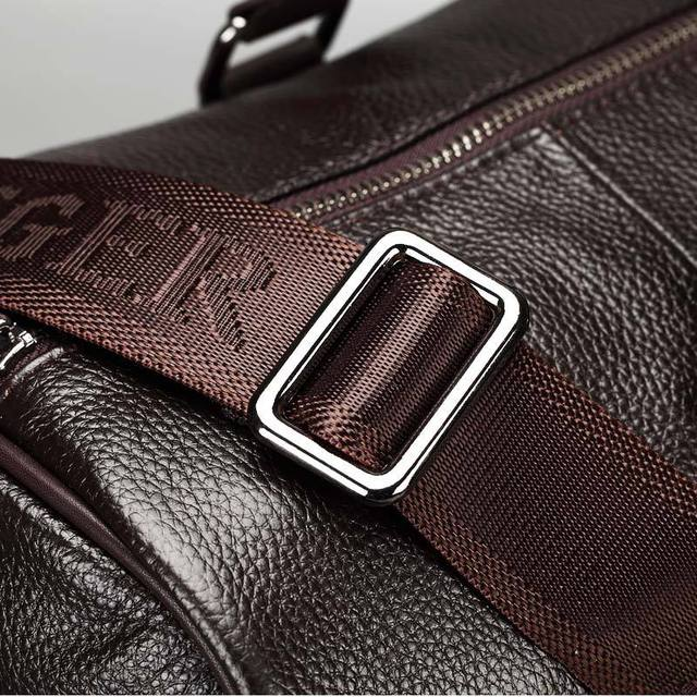 Maxwell Genuine Leather Duffle Travel Bag with Large capacity