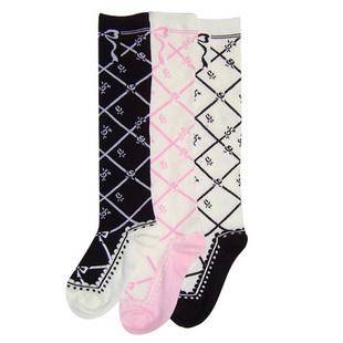Lolita Princesa Outono e inverno espessamento fêmea meias 100% algodão meias meias até o joelho-alta do vintage