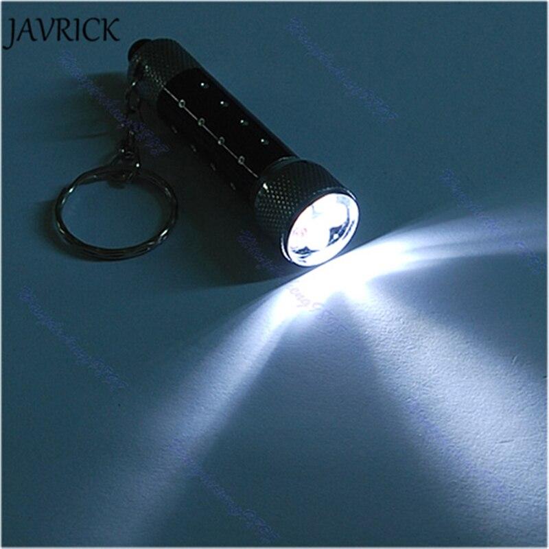 JAVRICK 1Pc 5 Mini LED Flashlight Torch Key Chain Key Ring Black ...